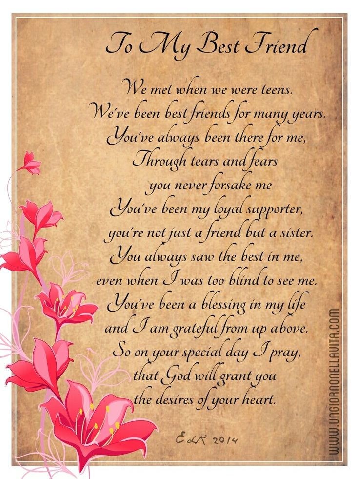 Best ideas about Birthday Quotes For Best Friend Girl . Save or Pin Birthday Poems for Best Friends Now.