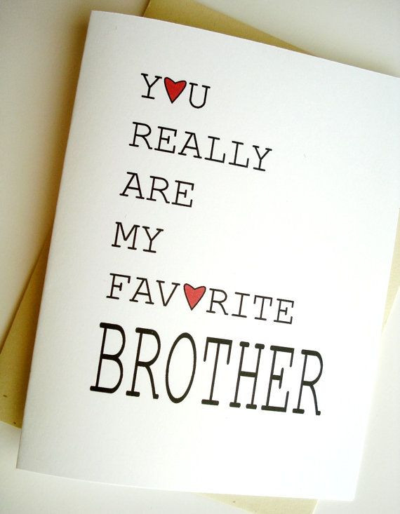 Best ideas about Birthday Quotes For Brother . Save or Pin Favorite Brother Card Birthday Etsy Finds Now.