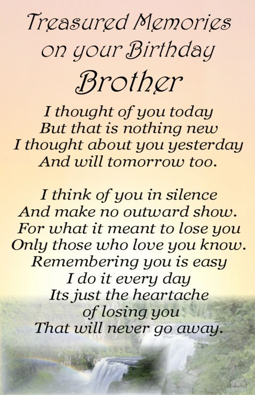 Best ideas about Birthday Quotes For Brother . Save or Pin HAPPY BIRTHDAY QUOTES FOR BROTHER IN HEAVEN image quotes Now.