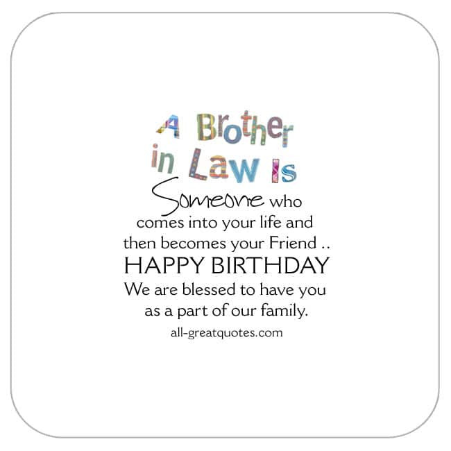 Best ideas about Birthday Quotes For Brother In Law . Save or Pin Awesome Free Birthday Cards For Brother in law Now.