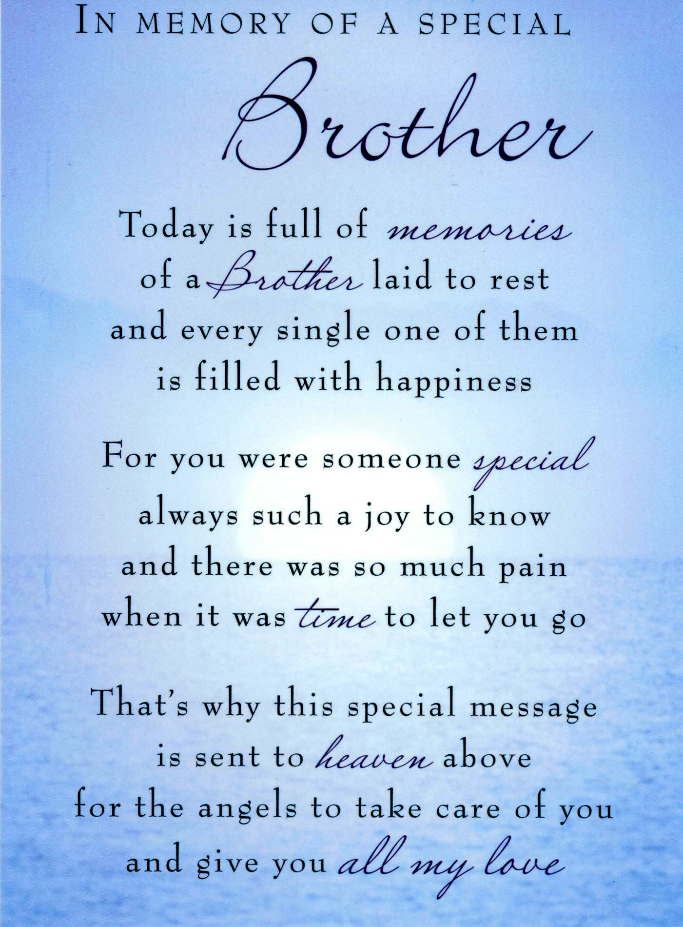 Best ideas about Birthday Quotes For Brother . Save or Pin Birthday Quotes For Deceased Brother QuotesGram Now.