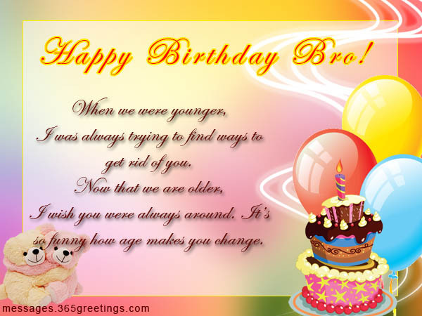 Best ideas about Birthday Quotes For Brother . Save or Pin Birthday Wishes for Brother 365greetings Now.