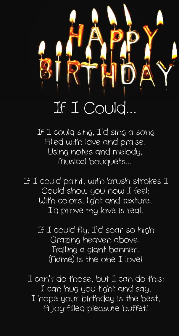 Best ideas about Birthday Quotes For Her . Save or Pin 12 Happy Birthday Love Poems for Her & Him with Now.