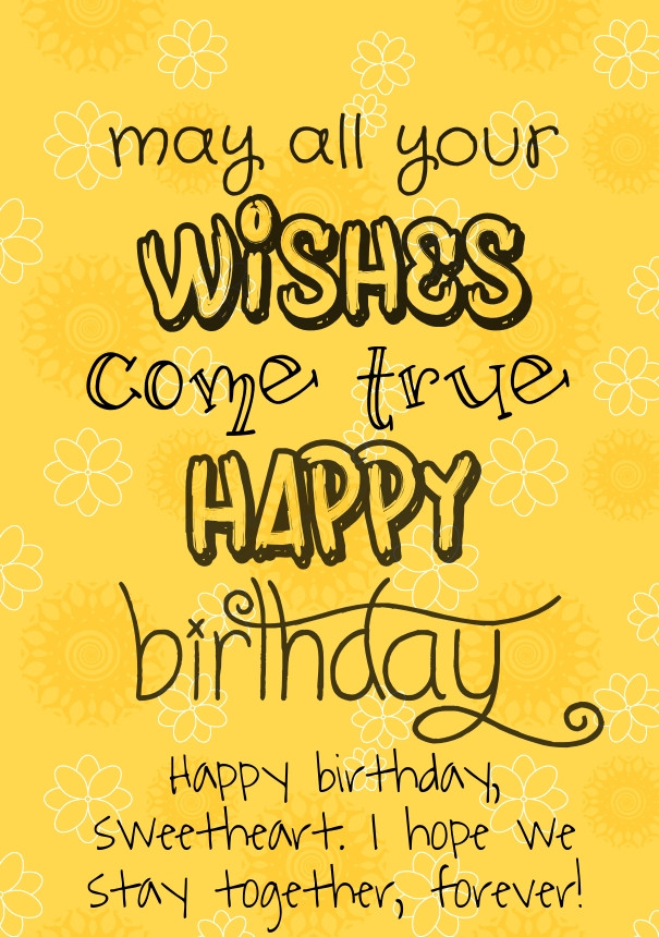 Best ideas about Birthday Quotes For Her . Save or Pin Happy Birthday Quotes For Her Love QuotesGram Now.