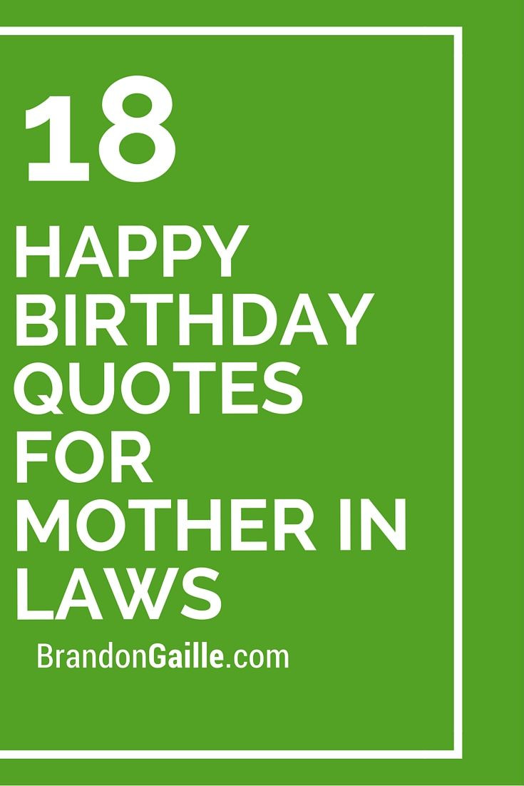 Best ideas about Birthday Quotes For Her . Save or Pin 18 Happy Birthday Quotes For Mother In Laws Now.