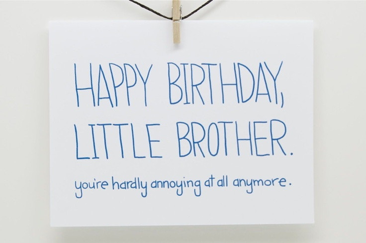 Best ideas about Birthday Quotes For Little Brother . Save or Pin Little Brother Birthday Quotes QuotesGram Now.