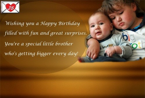 Best ideas about Birthday Quotes For Little Brother . Save or Pin 22 Fantastic Brother Birthday Wishes Meme Wallpaper & Now.