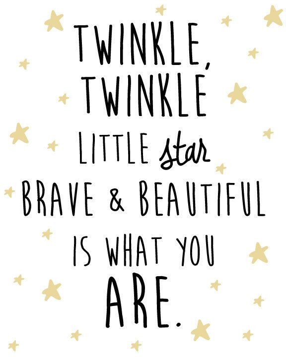 Best ideas about Birthday Quotes For Little Girl . Save or Pin Nursery Star and Moon Digital Print Twinkle Twinkle Now.
