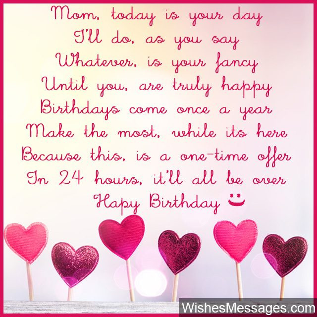 Best ideas about Birthday Quotes For Mom . Save or Pin Birthday Poems for Mom – WishesMessages Now.