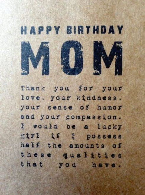 Best ideas about Birthday Quotes For Mom . Save or Pin 150 Unique Happy Birthday Mom Quotes & Wishes with Now.