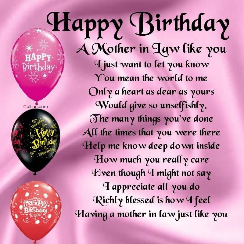 Best ideas about Birthday Quotes For Mother In Law . Save or Pin 60 Beautiful Birthday Wishes For Mother In Law – Best Now.