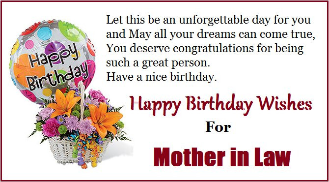Best ideas about Birthday Quotes For Mother In Law . Save or Pin Happy Birthday Quotes for Mom in Law Now.