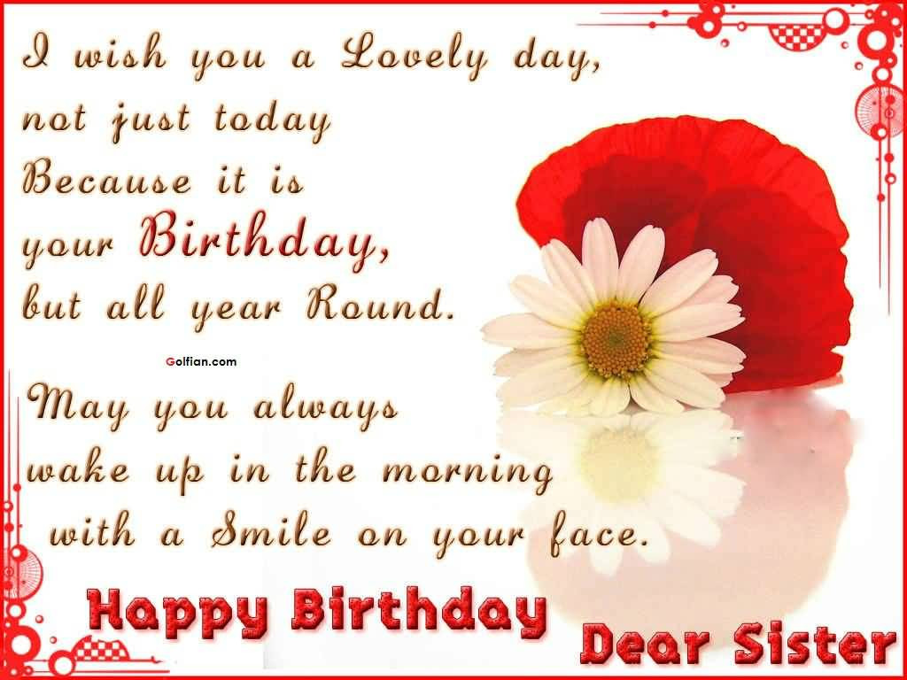 Best ideas about Birthday Quotes For Sisters . Save or Pin 60 Nice Sister Birthday Quotes – Best Birthday Sayings Now.