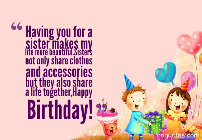 Best ideas about Birthday Quotes For Sisters . Save or Pin A collection of top 30 pictures about Sweet birthday Now.