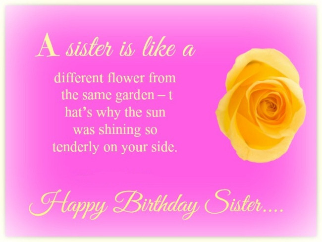 Best ideas about Birthday Quotes For Sisters . Save or Pin Birthday Quotes for Sister Cute Happy Birthday Sister Quotes Now.