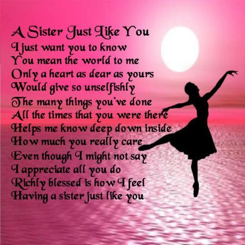 Best ideas about Birthday Quotes For Sisters . Save or Pin Sister Poems Poem Pile I love my sister Now.