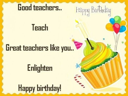Best ideas about Birthday Quotes For Teacher . Save or Pin Birthday Wishes Quotes and Poems for a Teacher Now.