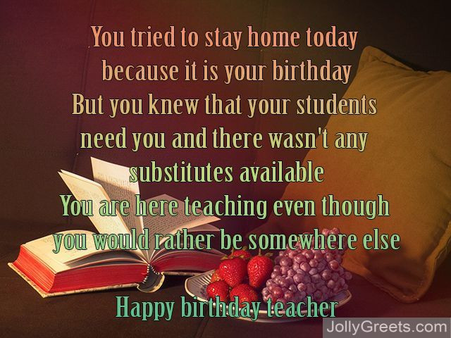 Best ideas about Birthday Quotes For Teacher . Save or Pin Birthday poems for teacher Now.