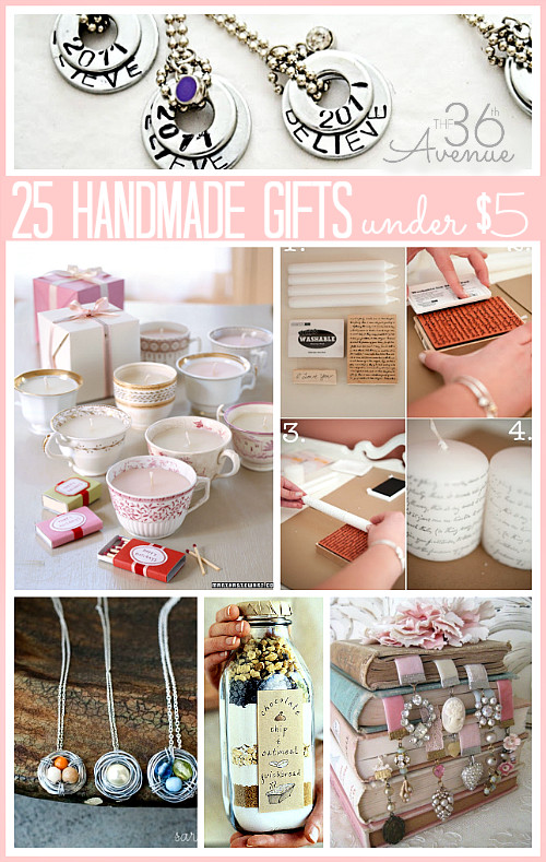 Best ideas about Birthday Return Gifts Under $5 . Save or Pin 25 Handmade Gifts Under $5 Now.