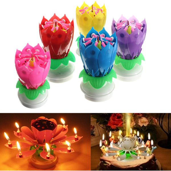 Best ideas about Birthday Return Gifts Under $5 . Save or Pin Lovely Musical Lotus Flower Rotating Happy Birthday Party Now.