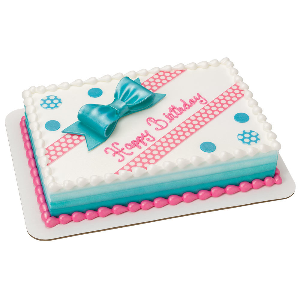 Best ideas about Birthday Sheet Cake . Save or Pin Birthday Bliss DecoShapes and Gum Paste Bow 1 4 Sheet Cake Now.