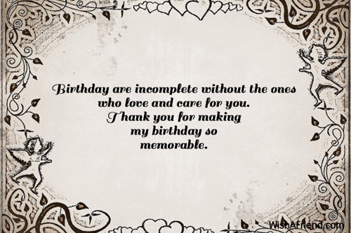 Best ideas about Birthday Thank You Quotes . Save or Pin Thank You For The Birthday Wishes Now.