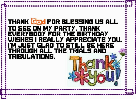 Best ideas about Birthday Thank You Quotes . Save or Pin Say Thank You Birthday Wishes Now.