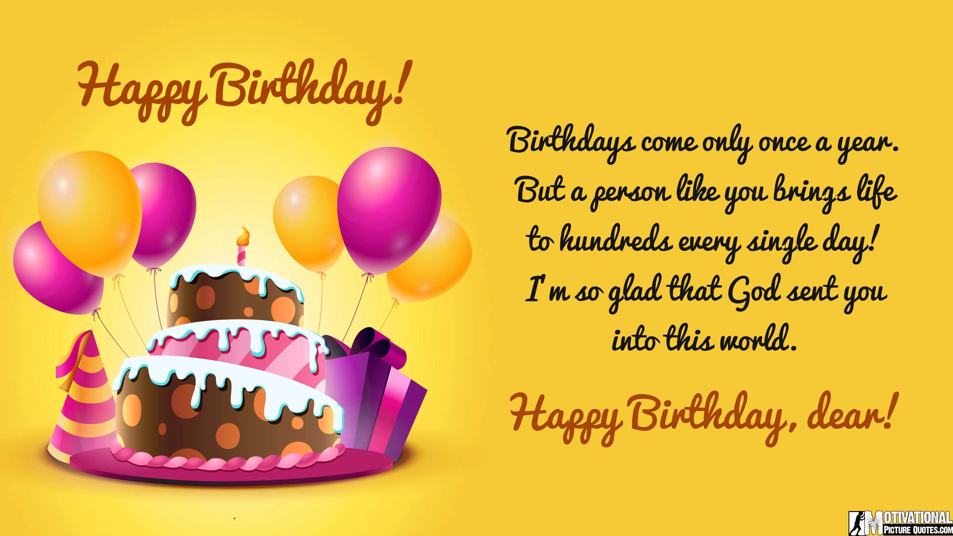 Best ideas about Birthday Thanks Quotes . Save or Pin 50 Happy Birthday For Him With Quotes iLove Messages Now.