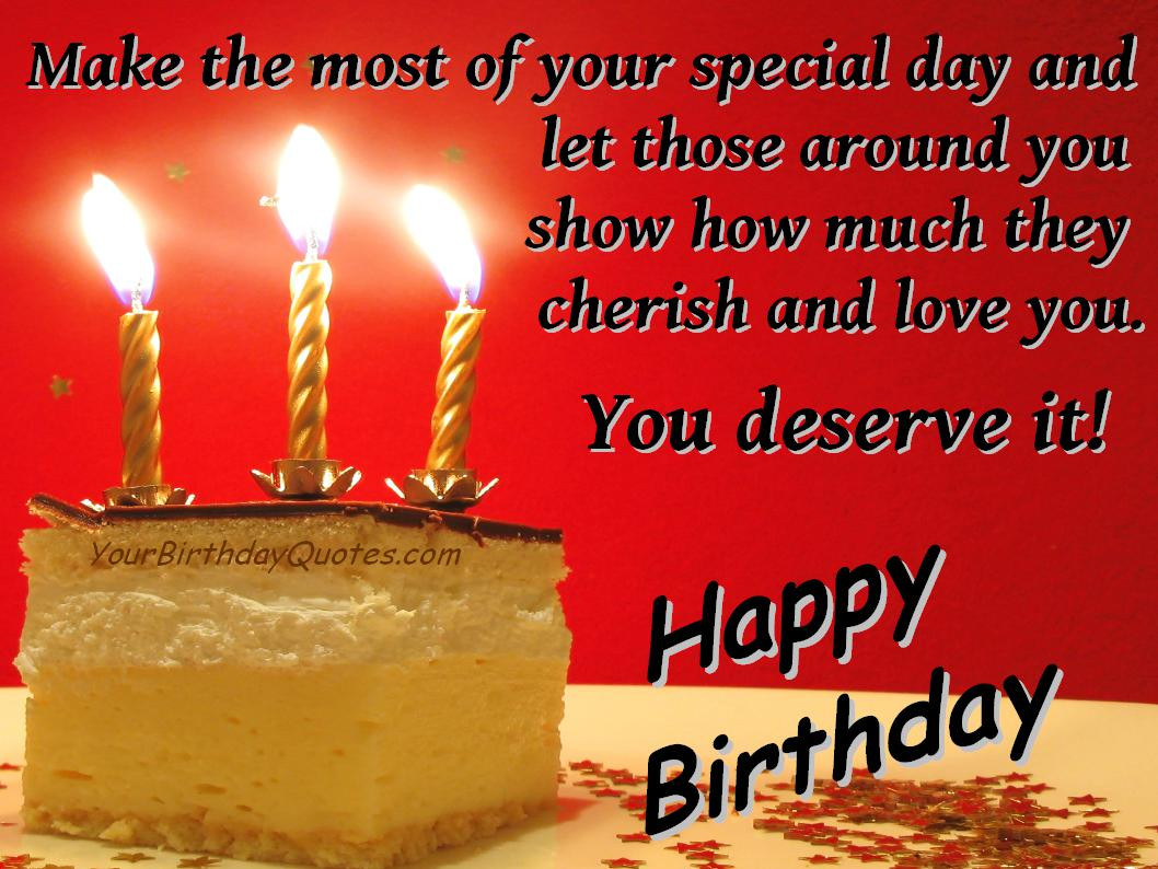 Best ideas about Birthday Thanks Quotes . Save or Pin Birthday Quotes Now.
