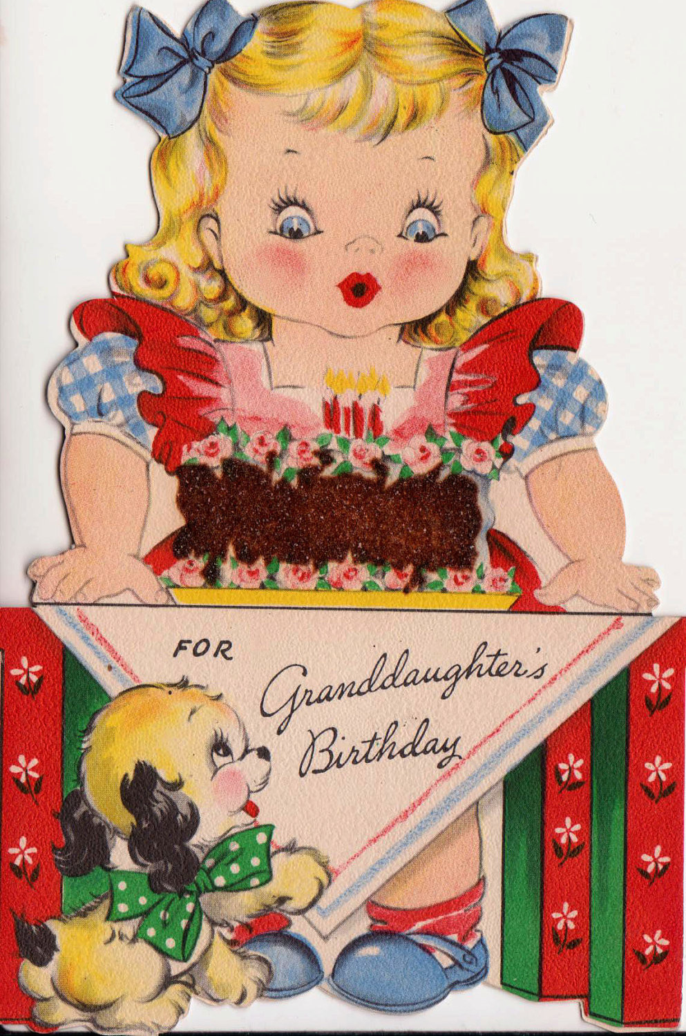 Best ideas about Birthday Wish Hallmark . Save or Pin Vintage Hallmark 1943 For Granddaughters Birthday Greetings Now.