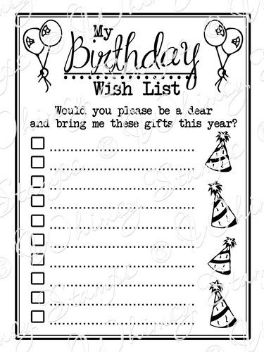 Best ideas about Birthday Wish List . Save or Pin My Birthday Wishlist Now.