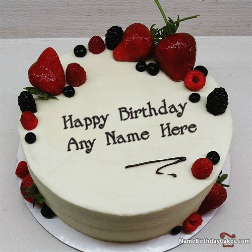 Best ideas about Birthday Wishes Cake With Name . Save or Pin Best Strawberry Cake For Boys Happy Birthday Wish With Now.