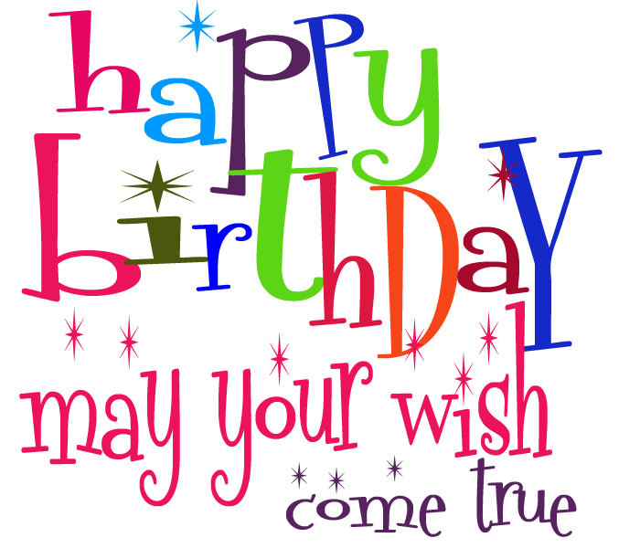Best ideas about Birthday Wishes Clip Art . Save or Pin Cute Clipart ♥ 10 Really Cute Birthday Clipart Text Now.