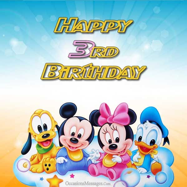 Best ideas about Birthday Wishes For 3 Year Old . Save or Pin 3rd Birthday Wishes and Messages Occasions Messages Now.