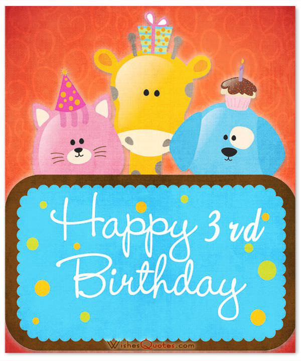 Best ideas about Birthday Wishes For 3 Year Old . Save or Pin 3rd Birthday Wishes Now.