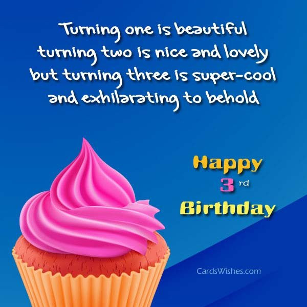 Best ideas about Birthday Wishes For 3 Year Old . Save or Pin Happy 3rd Birthday Wishes Cards Wishes Now.