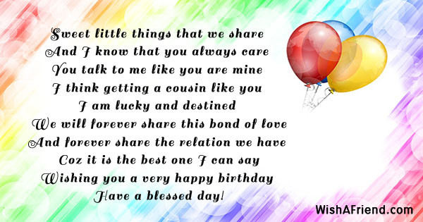 Best ideas about Birthday Wishes For A Cousin . Save or Pin Birthday Messages For Cousin Now.