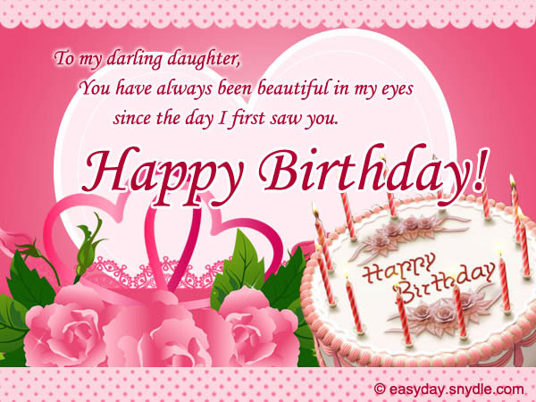 Best ideas about Birthday Wishes For A Daughter . Save or Pin Birthday Messages for Your Daughter Easyday Now.