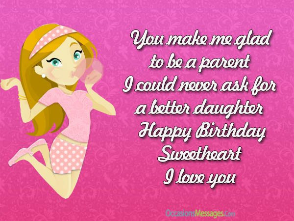 Best ideas about Birthday Wishes For A Daughter . Save or Pin Happy Birthday Wishes for Daughter Occasions Messages Now.