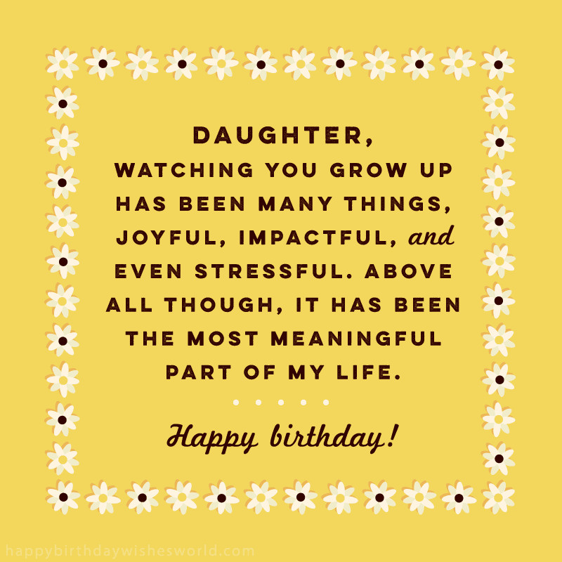 Best ideas about Birthday Wishes For A Daughter . Save or Pin 100 Birthday Wishes for Daughters Find the perfect Now.