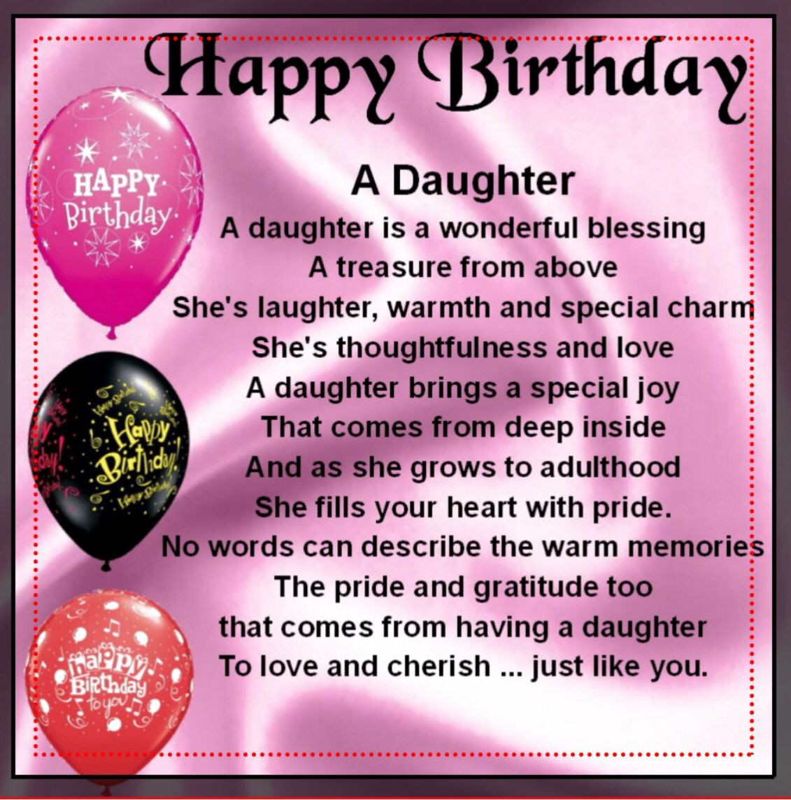Best ideas about Birthday Wishes For A Daughter . Save or Pin Happy Birthday daughter … Cute Now.