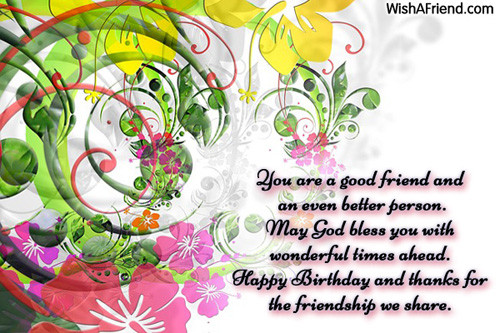 Best ideas about Birthday Wishes For A Great Friend . Save or Pin HAPPY BIRTHDAY QUOTES FOR BEST FRIEND FACEBOOK image Now.