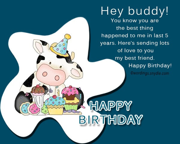 Best ideas about Birthday Wishes For A Male Friend From A Female . Save or Pin Birthday wishes for best friend male Wordings and Messages Now.