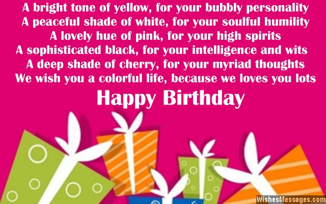 Best ideas about Birthday Wishes For A Niece . Save or Pin Birthday poems for niece – WishesMessages Now.