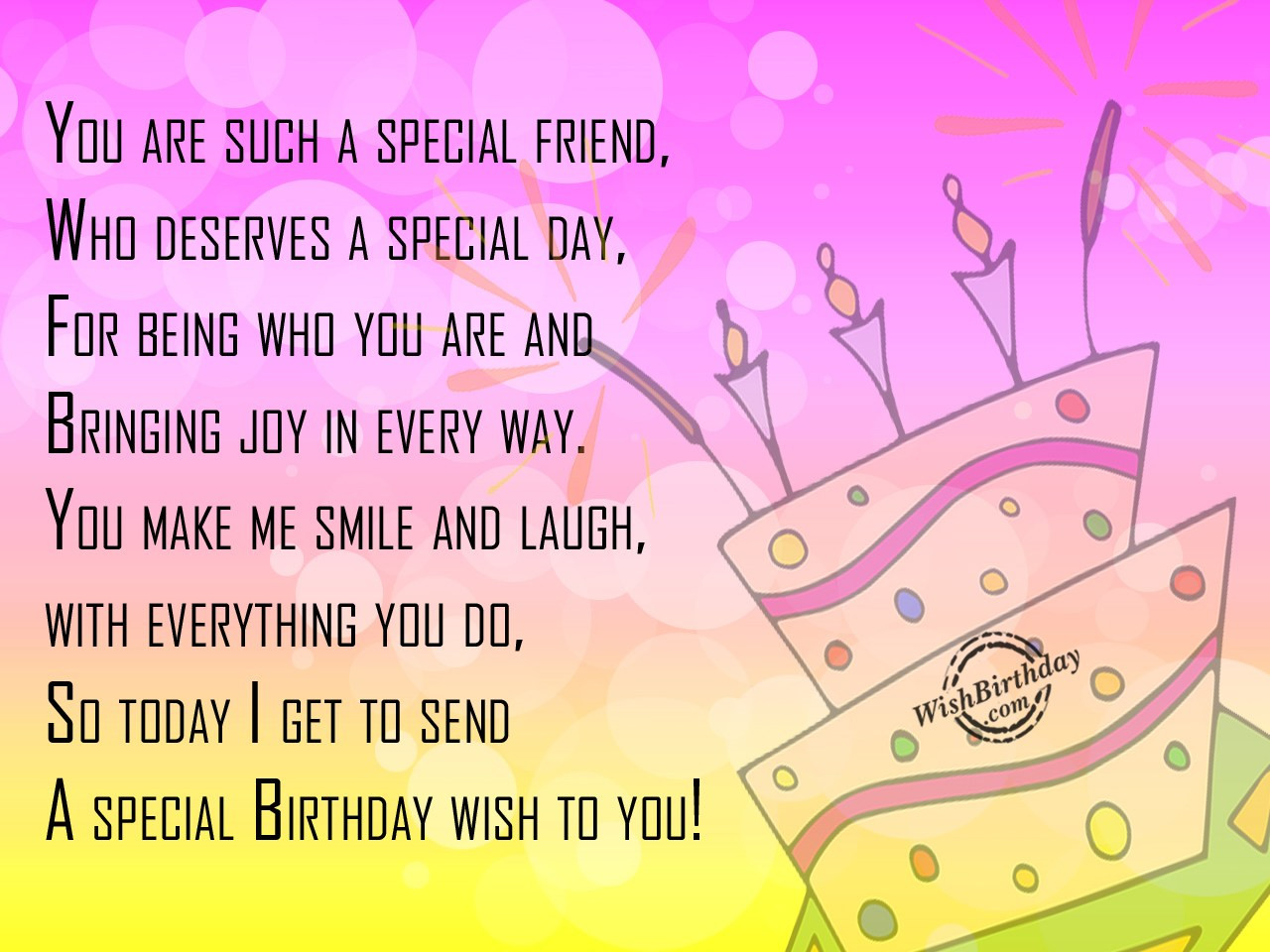 Best ideas about Birthday Wishes For A Special Friend . Save or Pin Birthday Wishes for Best Friend Birthday Now.