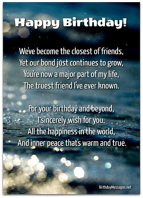 Best ideas about Birthday Wishes For A Special Male Friend . Save or Pin Sentimental Birthday Poems Page 5 Now.