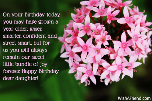 Best ideas about Birthday Wishes For Adult Daughter . Save or Pin Daughter Birthday Messages Now.