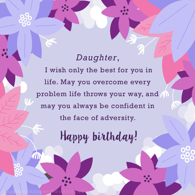 Best ideas about Birthday Wishes For Adult Daughter . Save or Pin 100 Birthday Wishes for Daughters Find the perfect Now.