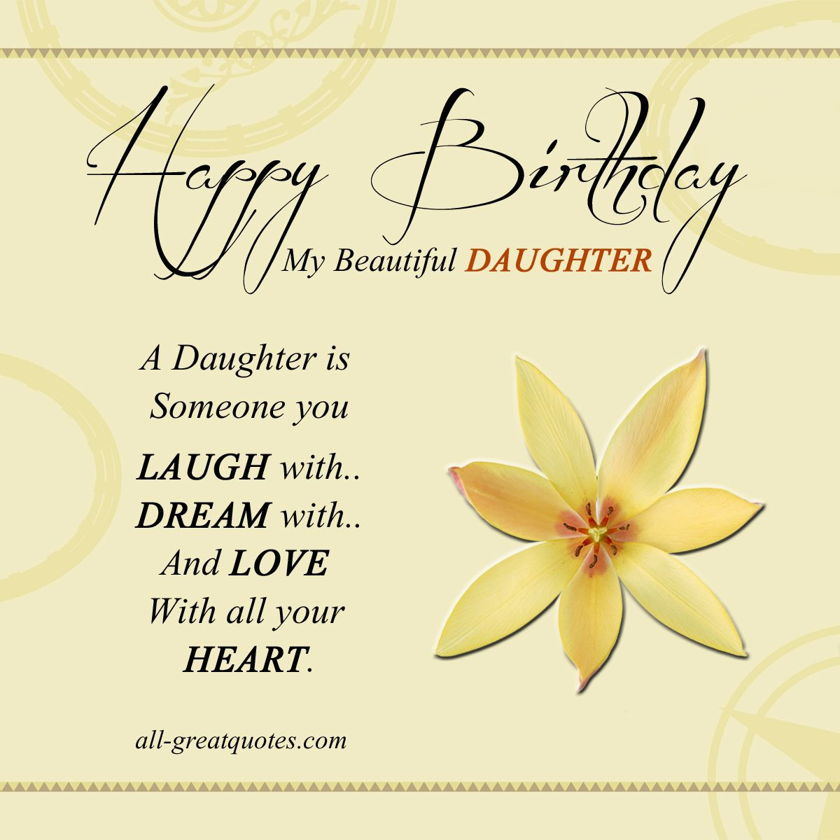 Best ideas about Birthday Wishes For Adult Daughter . Save or Pin Happy Birthday To My Beautiful Daughter Animated Now.