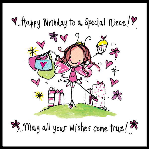 Best ideas about Birthday Wishes For Aunt From Niece . Save or Pin Happy birthday to a special niece – Juicy Lucy Designs Now.